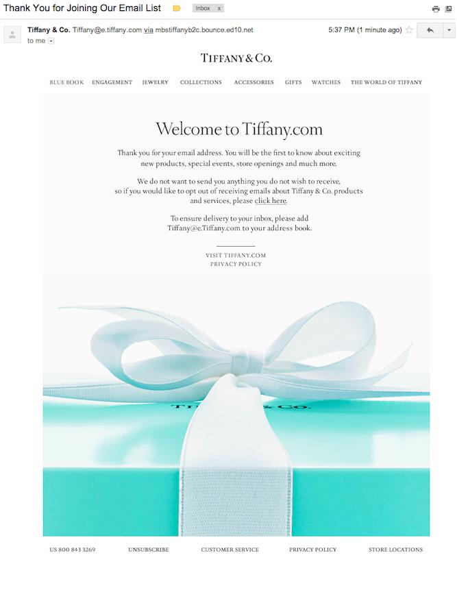 disiscrizione-mail-Tiffany&Co.