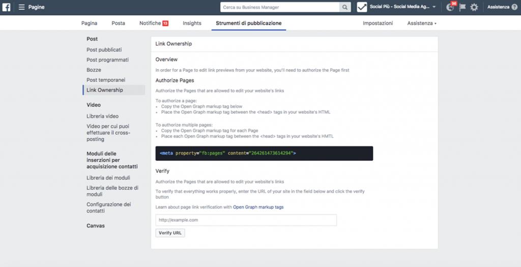 Post Link Facebook: come modificare titolo, immagine e descrizione dei post Facebook con link al sito web 2