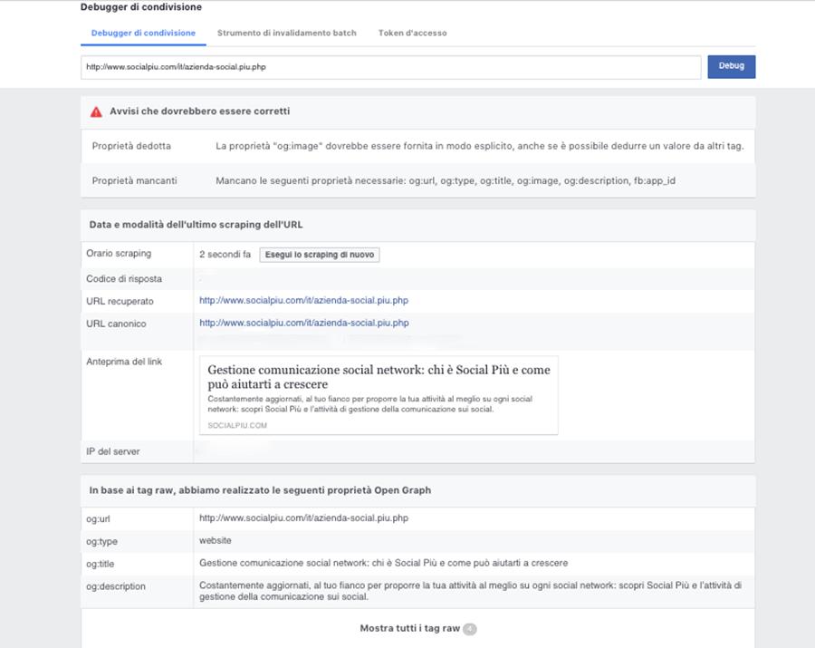 Post Link Facebook: come modificare titolo, immagine e descrizione dei post Facebook con link al sito web 3