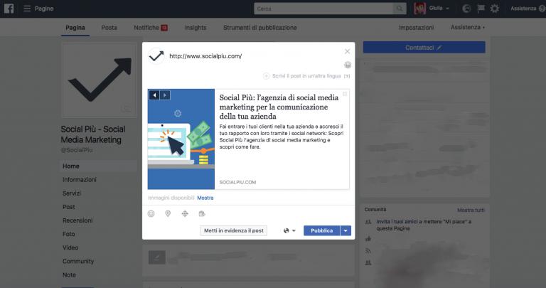 Post Link Facebook: come modificare titolo, immagine e descrizione dei post Facebook con link al sito web