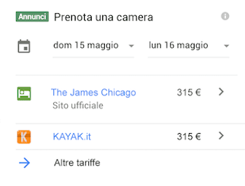 Google Hotel Ads: vendere il tuo hotel direttamente su Google 1