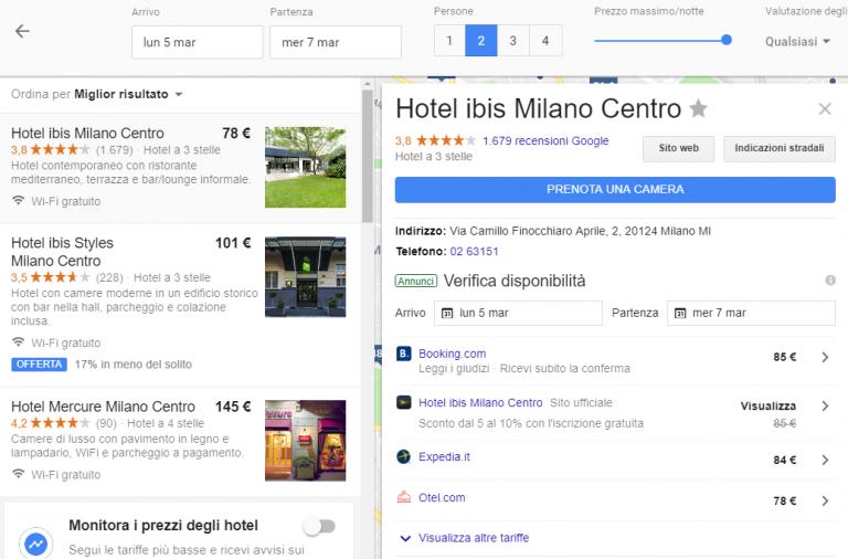 Google Hotel Ads: vendere il tuo hotel direttamente su Google 3