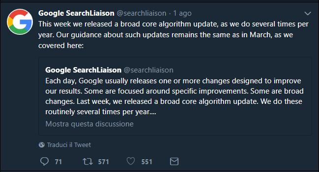 Medic Update: l'aggiornamento di Google 1