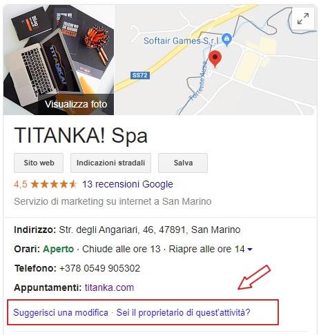 La scheda Google My Business: crearla, rivendicarla e gestirla al meglio 3